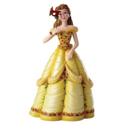 disney showcase collection bela e o monstro mascarilha vestido amarelo