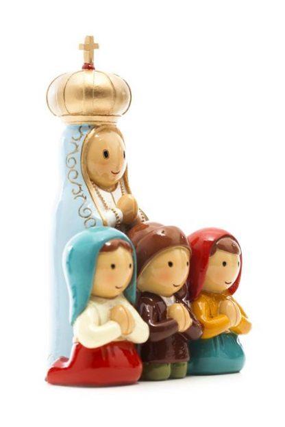 fátima e três pastorinhos anjo santo religião religion cute fofo comunhão batizado baptizado figura religiosa anjinho guarda menina menino baptismo
