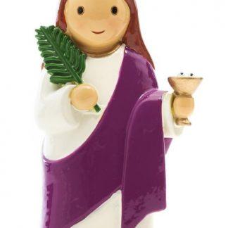 santa luzia anjo santo religião religion cute fofo comunhão batizado baptizado figura religiosa anjinho guarda menina menino baptismo