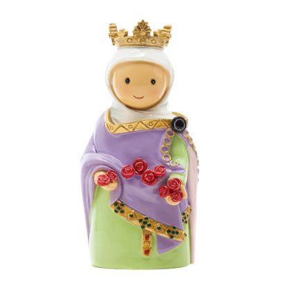 rainha santa sta isabel anjo santo religião religion cute fofo comunhão batizado baptizado figura religiosa anjinho guarda menina menino baptismo
