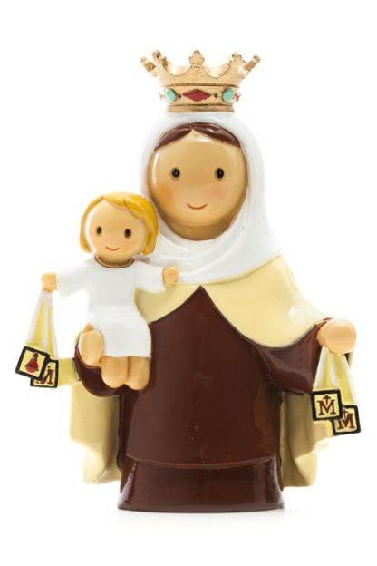 nossa senhora sra. do carmo anjo santo religião religion cute fofo comunhão batizado baptizado figura religiosa anjinho guarda menina menino baptismo
