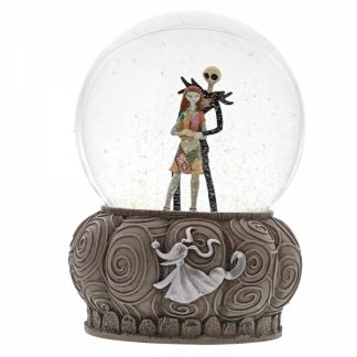 snowglobe disney traditions nbx nightmare before christmas sally jack skellington