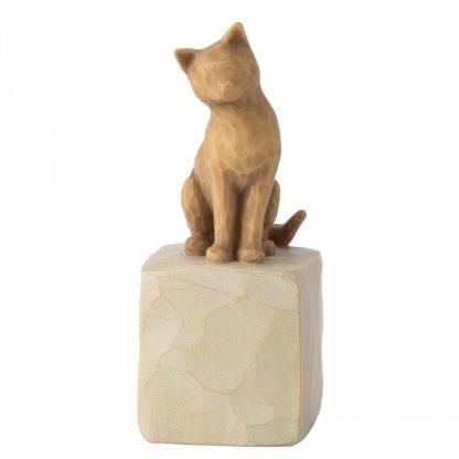 gato figura estátua família anjo peça decoraçao casa significado amizade amor felicidade willow tree desejo aniversário presente