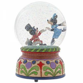 globo musical mickey e minnie disney traditions jim shore snowglobe globo de neve