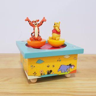 caixa de música criança bebé circo winnie the pooh