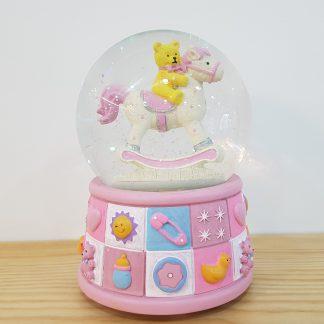 caixa de música globo de neve snowglobe urso bebé baptizado nascimento