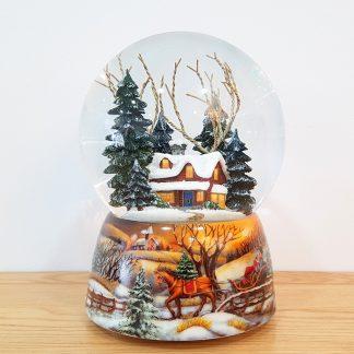 snowglobe globo de neve lanterna de natal cânticos de natal boneco de neve pai natal presépio sagrada família