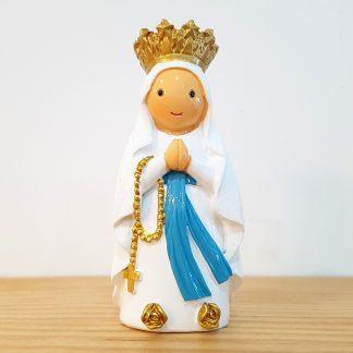 nossa senhora de lourdes anjo santo religião religion cute fofo comunhão batizado baptizado figura religiosa anjinho guarda menina menino baptismo