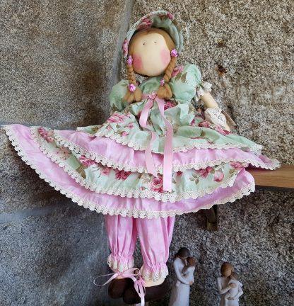 artesanato tecido perfumada boneca princesa