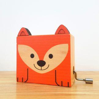 carrossel caixa de música globo de neve raposa realejo