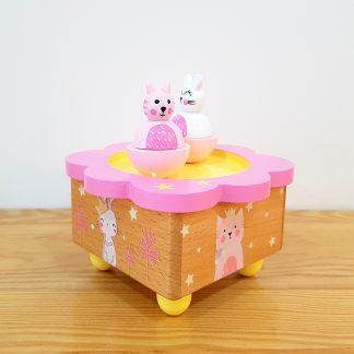 carrossel caixa de música globo de neve gatos