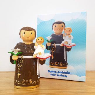 santo sto antónio anjo santo religião religion cute fofo comunhão batizado baptizado figura religiosa anjinho guarda menina menino baptismo