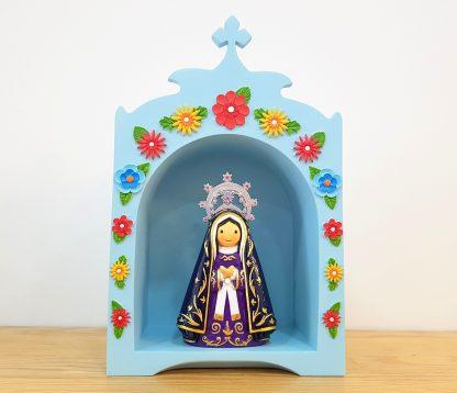 oratório anjo santo religião religion cute fofo comunhão batizado baptizado figura religiosa anjinho guarda menina menino baptismo