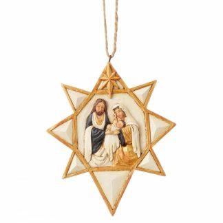 presépio estrela pendente jim shore dourado heartwood creek
