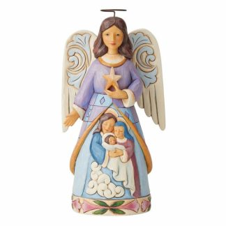 anjo presépio sagrada família jim shore heartwood creek