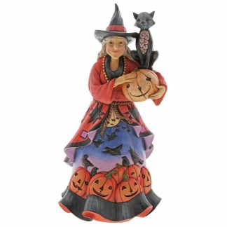jim shore heartwood creek bruxa halloween gatos