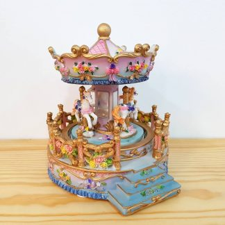 carrossel caixa de música baptizado bebé nascimento presente