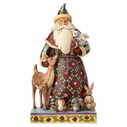 pai natal heartwood creek jim shore santa claus mãe natal floresta animais