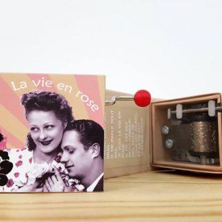 caixa de música realejo la vie en rose