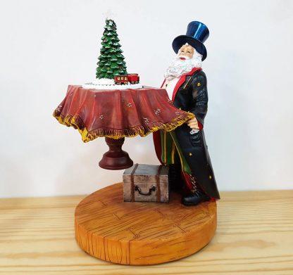 caixa de música globo de neve snowglobe boneco de neve pai natal caixa de música