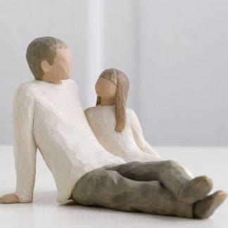 susan lordi figura estátua família anjo peça decoraçao casa significado amizade amor felicidade willow tree desejo aniversário presente pai e filha