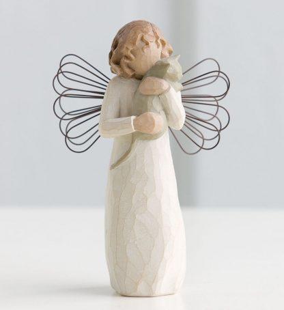 susan lordi figura estátua família anjo peça decoraçao casa significado amizade amor felicidade willow tree desejo aniversário presente gato amizade