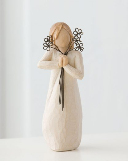 susan lordi figura estátua família anjo peça decoraçao casa significado amizade amor felicidade willow tree desejo aniversário presente amizade