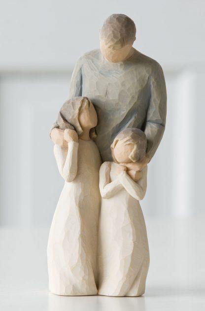 susan lordi figura estátua família anjo peça decoraçao casa significado amizade amor felicidade willow tree desejo aniversário presente pai filhas