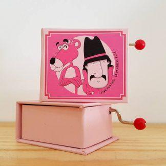pantera cor de rosa realejo caixa de música