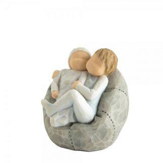 irmãos figura estátua família anjo peça decoraçao casa significado amizade amor felicidade willow tree desejo aniversário presente