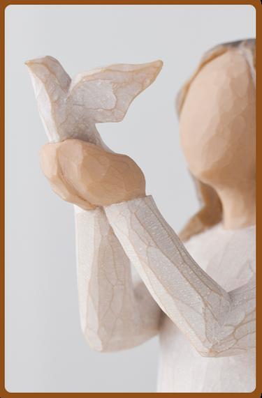 susan lordi figura estátua família anjo peça decoraçao casa significado amizade amor felicidade willow tree desejo aniversário presente liberdade