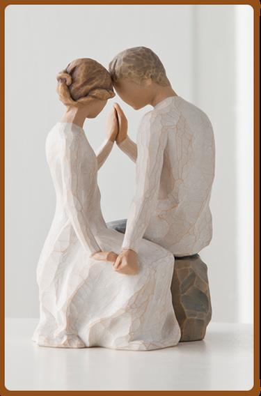 susan lordi figura estátua família anjo peça decoraçao casa significado amizade amor felicidade willow tree desejo aniversário presente casal around you à tua volta