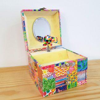 caixa de música caixa de bailarina elmer elefante