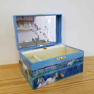 caixa de música caixa de bailarina cavalos