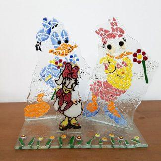 alice no país das maravilhas presépio original artesanato donald e daisy