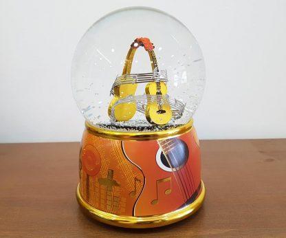 globo de neve snowglobe guitarra caixa de música music box