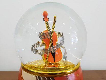 globo de neve snowglobe guitarra caixa de música music box violino