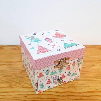 caixa de música caixa de bailarina pinguins coelho