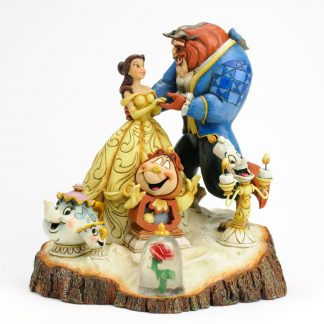 disney bela e o monstro jim shore heartwood creek lumiére mrs. potts cogsworth