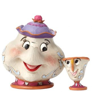 disney traditions jim shore mrs. potts e chip bela e o monstro