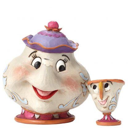 disney traditions jim shore mrs. potts e chip bela e o monstro