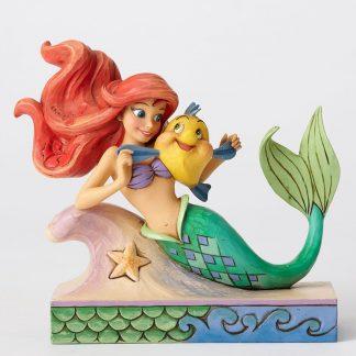 disney traditions jim shore ariel linguado flounder a pequena sereia