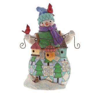 jim shore heartwood creek natal pinhas boneco de neve