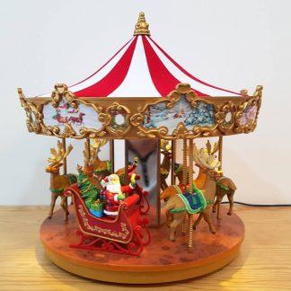 calendário de advento natal caixa de música carrossel natal renas