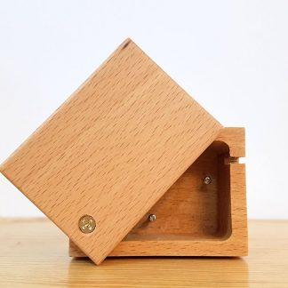 caixa de música madeira realejo