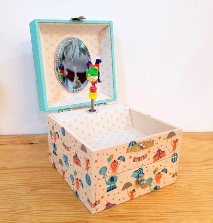 caixa de música caixa de bailarina circo
