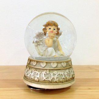 globo de neve caixa musica natal christmas magia realejo globo peça elétrico corda decoração