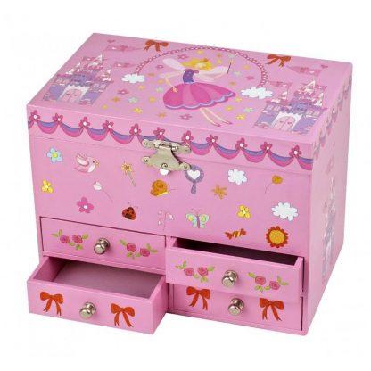 caixa de música bailarina princesa
