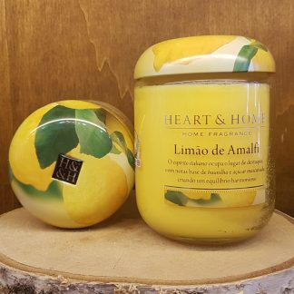 limão de amalfi heart and home vela de soja