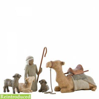 presépio pastor camelo ovelhas figura estátua família anjo peça decoraçao casa significado amizade amor felicidade willow tree desejo aniversário presente